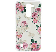 Peony Pattern TPU Soft Case Phone Case for LG Series Model
