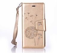 Dandelion Lanyard Embossed Diamond Phone Holster Phone Shell for Huawei P9/P9 Lite