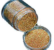1 bouteille clou poudre de paillettes diy laser belle couleur or la beauté des ongles décoration l01