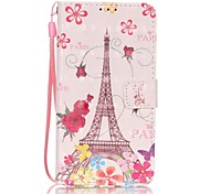 EFORCASE® Butterfly Tower 3D Painted Lanyard PU Phone Case for Huawei P9lite