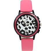 estudantes preto e branco pulseira de couro de leopardo doces relógio cor