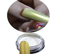 1 bottle powder+1 eye shadow brush-Bijoux pour ongles / Paillettes & Poudre-Doigt / Orteil- enMariage-2.6*2.6cm