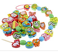 Children's Vision Training Preschool Toys FX06 66 Animal Pairing Beads of Early Education Wearing Rope Threading Game