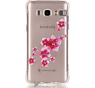 Pink Plum Pattern TPU Popular Brands Calling Flash Case Cover For Samsung Galaxy J7 (2016) / J5 (2016) / J1 (2016)