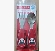 Stainless Steel  Baby Fork and Spoon(Panda)