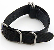 Schwarz / Grün Nylon durable Sport Band Für Garmin Uhr 26mm