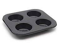 United States 4 Cup 4 With A Circular Mold Mini Cake Pan Muffin Cup Pudding Mold Import Fda Non-Stick Coating