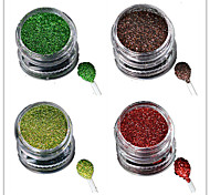 1 Bottle Nail Art Laser Colorful Glitter Shining Powder Manicure Makeup Decoration Nail Beauty L5-8