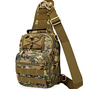 8 L Backpack Camping & Hiking Outdoor Waterproof / Multifunctional Camouflage Nylon