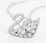 Little Swan Diamond Studded Necklace