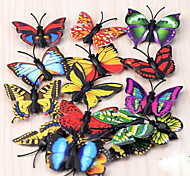 Moss Micro Landscape Ornaments Butterfly Refrigerator Magnet With Iron Absorption Diy Assembling Small Ornaments Crafts