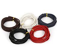 beadia 4 мм плетеный кожаный шнур ожерелья приспособленный&Браслеты 2mts Длина (5 цветов)
