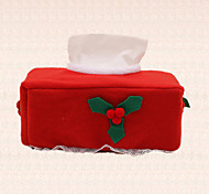 1pc New Year Christmas Tissue Box Cover Xmas Fruit Table Decoration Paper Napkins Holder Festive Gift