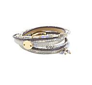 Bracelet Charmes pour Bracelets / Bracelets Wrap / Bracelets en cuir Cristal / Alliage / Cuir / Acrylique Forme de TubeGland / Mode /