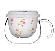 Flower Ceramic Tea Cup / Coffee Mug with Tea Stainer