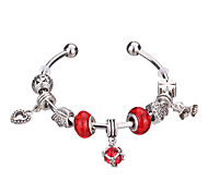 Femme Filles´ Charmes pour Bracelets Bracelets Rigides Manchettes Bracelets Bracelets de rive Bracelets en Argent CristalRésine Strass