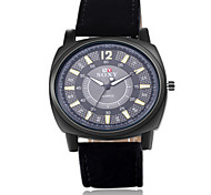 Men's Black/Brown Leather Band  Black Case Analog Quartz Dress Skeleton Watch(NO Water Ressistant)