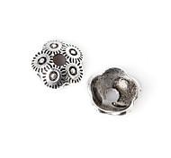 28pcs beadia antiguos granos de la aleación de plata 8x3mm forma de la flor espaciador rebordea&perlas casquillo