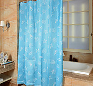 "Cartoon Mediterranean Shower Curtains W71""×L71"""