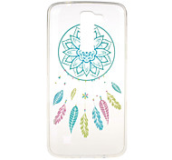 Blue Campanula Pattern TPU Soft Case Phone Case for LG Series Model