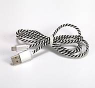 General Cable Twist Braided Wire USB2.0 for Samsung Galaxy Note 4/S7/S6/S4/S3/S2 and HTC/Huawei/SONY/Millet(1M)