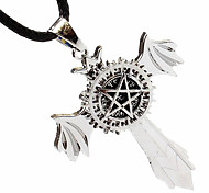 Dx194 Anime Peripheral Wholesale, Black Deacon Six-Pointed Star Turn The Necklace Pendant