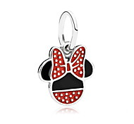 Animal Shape Mouse Silver Cute Style Jewelry 147 1pc