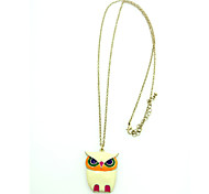 2016 Glaze Color Drops Owl Pendants Fashion Vintage Necklaces Jewelry