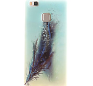 Feathers Painting Pattern TPU Soft Case for Huawei Ascend P9 Lite P9Mini/ P8 Lite P8Mini