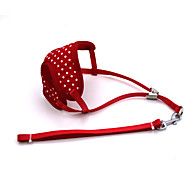 Cat / Dog / Horse Harness / Leash Adjustable/Retractable / Breathable / Running / Vest / Polka dots Red Mesh