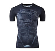 Sports Cycling Jersey Men's Short Sleeve Bike Breathable Tops Terylene Spring / Summer Cycling/Bike