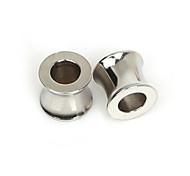 beadia 5pcs Edelstahl 8x9mm Spacer Perlen für Schmuckherstellung (5 mm Loch)