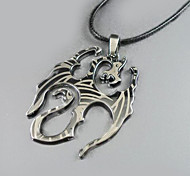 Flame Dragon Pendant Necklace