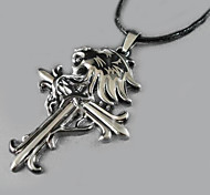 Wolf - Cross Pendant Necklace