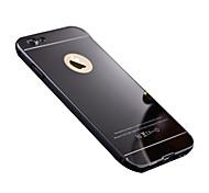 caso luxuoso de alumínio estrutura de metal + ultra slim espelho acrílico tampa traseira para o iphone 6s 6 mais