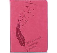 A Variety Of Colors Feather Pattern Embossed Leather For  IPAD5