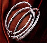 Женский Браслет цельное кольцо Мода бижутерия Стерлинговое серебро Бижутерия Бижутерия Назначение