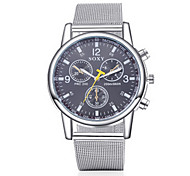 SOXY® Men's Watch Silver Steel Band Black Case Dress Watch Casual Watch Fashion Watch