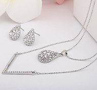 Europe And The United States Contracted Water Diamond Alloy Jewelry SetImitation Diamond Birthstone