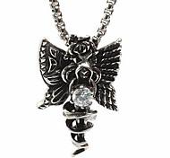 The Titanium Necklace Pendant Islamic Card - White