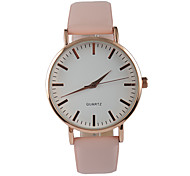 Women's Fashion Watch Casual Watch Quartz PU Band Charm Pink