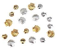 Zubehör-Set Kit mit 20pcs gold- und silberfarben 3 mm und 5 mm Muscheln bildet Nagelkunst 3d Dekorationen