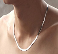 Silver Chain Necklace 50cm Length