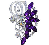 Bride Wedding Flower Rhinestone Brooch for Women Men Jewelry Accessories