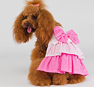 Cat / Dog Dress Pink Dog Clothes Summer / Spring/Fall Birthday