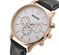 Unisex Reloj de Vestir / Reloj de Moda / Reloj de Pulsera Cuarzo / Piel Banda Cool Negro / Marrón Marca