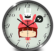 Cute Cartoon Rabbit Children Room Wall Clock