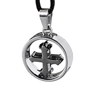Man Necklace, Creative Cross Stainless Steel, Titanium Steel Cross Pendant - Loops