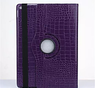 New OST Luxury Crocodile Grain Style Rotating Stand PU Leather Case Protective Cover For Apple iPad 5/Air