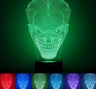 jack criativo colorido usb 3d luz conduzida da noite